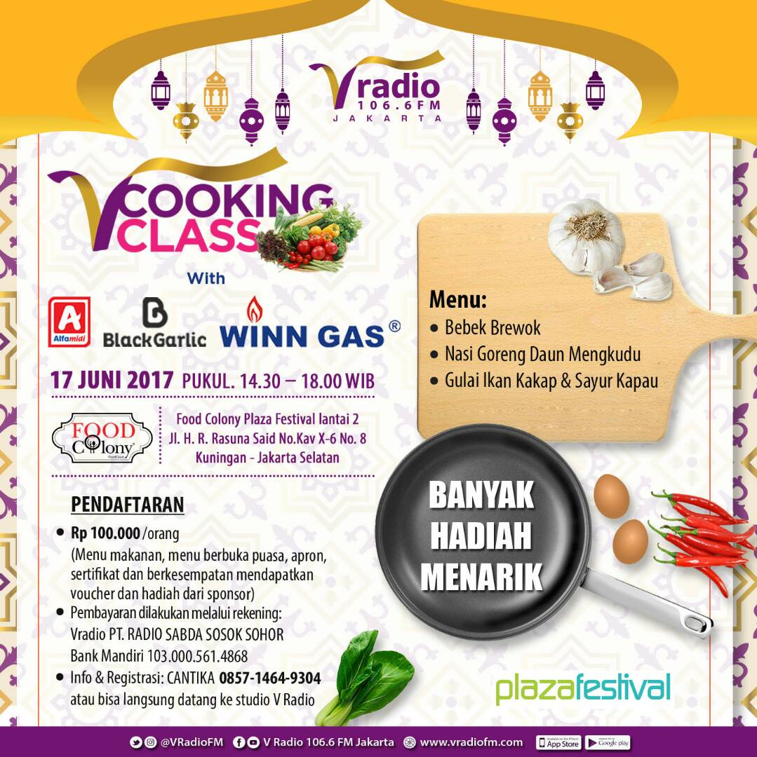 V Cooking Class at Plaza Festival