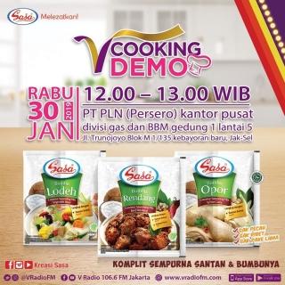 V Cooking Demo bersama SASA