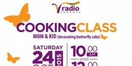 V Cooking Class: Mom & Kid Decorating Butterfly Cake