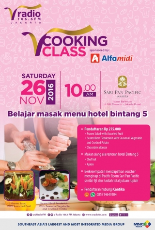 V Cooking Class at Sari Pan Pacific