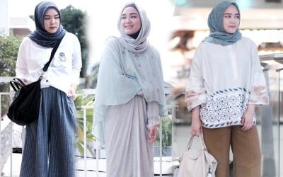 Tampil Cantik Dengan Padu Padan Hijab Dan Kemeja