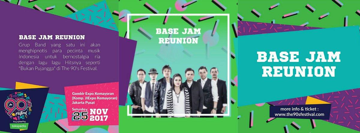 BASE JAM REUNION, pelepas rindu musik 90an di The 90's Festival