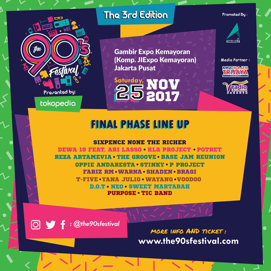 Fase tiga diumumkan, 6 artis ini siap menemani Anda nostalgia di The 90's Festival!
