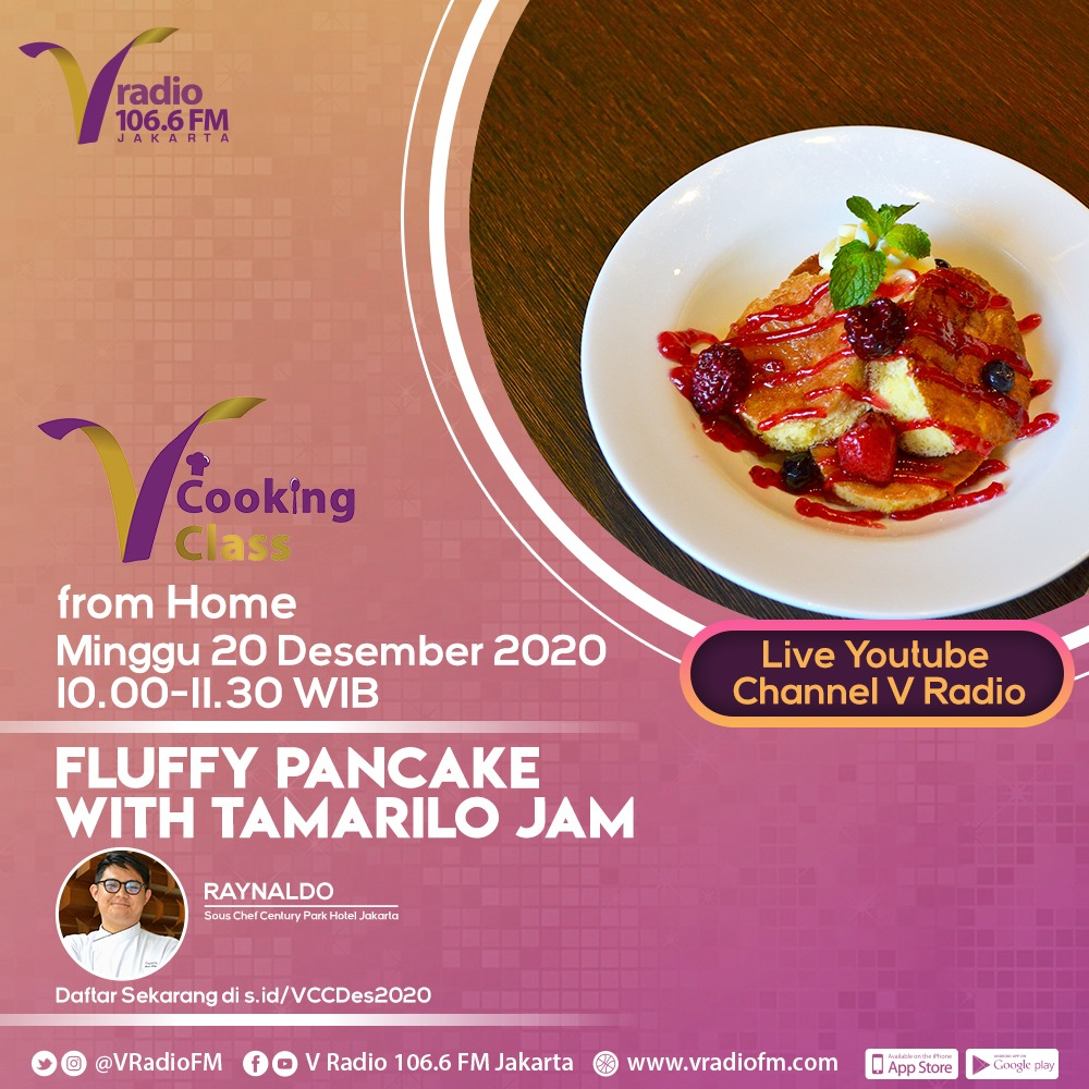 V Cooking Class from Home: Bereksperimen dengan Fluffy Pancake Kekinian