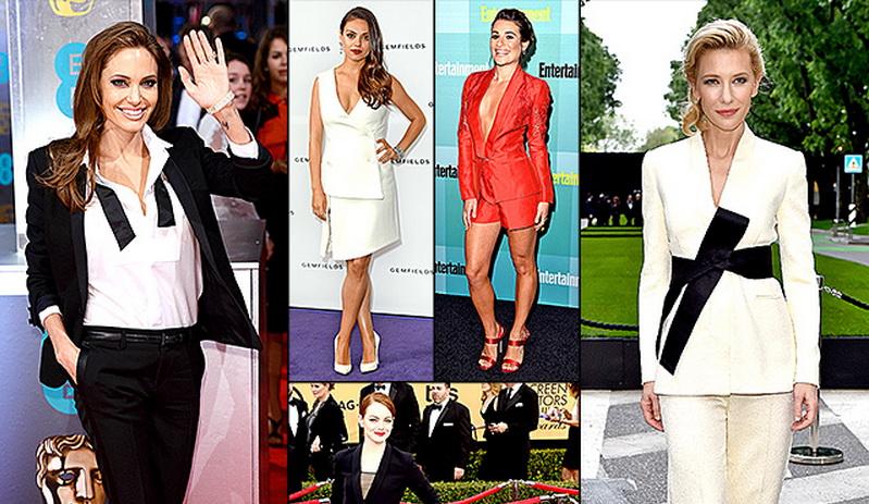 Cantiknya Aktris Hollywood Pakai Busana Pria