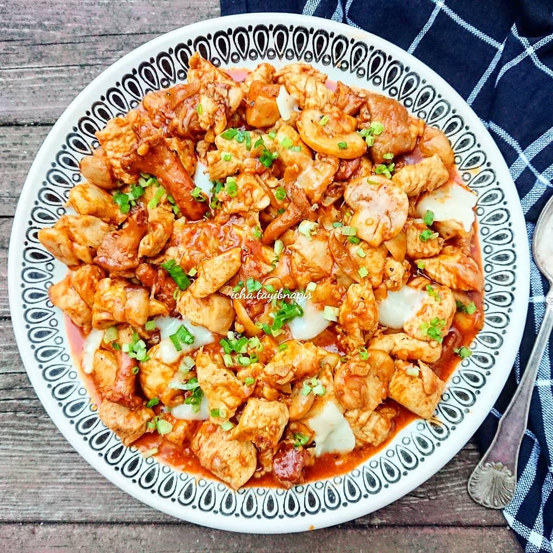 Spesial Weekend, Resep Ayam Jamur Mozzarella