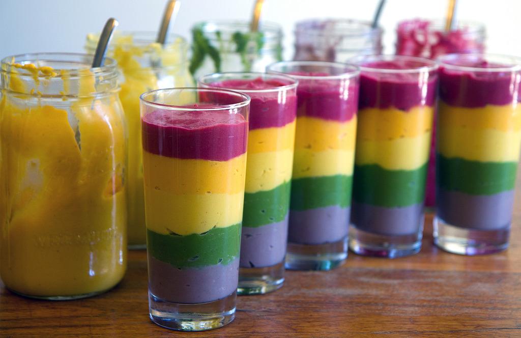 Rainbow Pudding Pengundang Selera