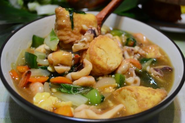 Sapo Tahu Seafood Segar Untuk Buka Puasa