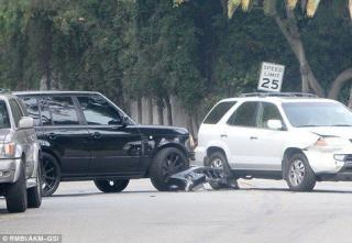 David Beckham dan Putranya Mengalami Kecelakaan