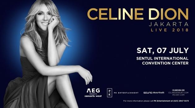 Tiket Konser Celine Dion di Indonesia Mulai di Jual Mulai 19 Januari 2018 di www.celinedionjkt.com