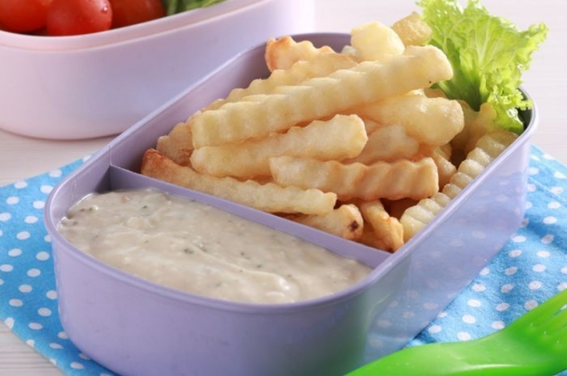 French fries with cheese sauce