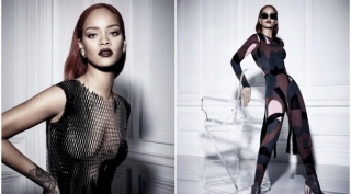 Jadi Model Dior, Rihanna Tampil High-Fashion dengan Baju Transparan