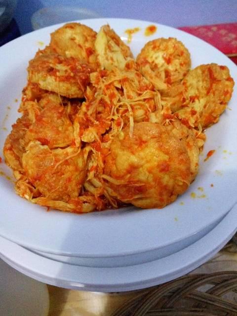 Tofu Ayam Suwir Balado