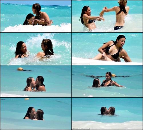 Michelle Rodriguez & Cara Delivigne Umbar Ciuman Hot
