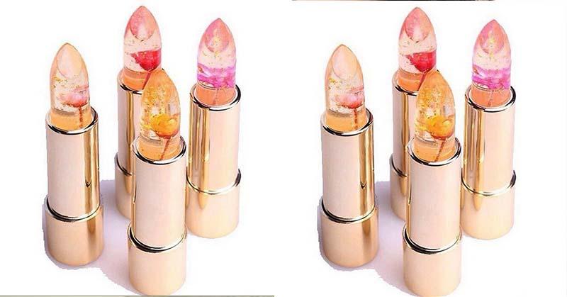 Unik, Ada Bunga dalam Lipstik Transparan Ini!